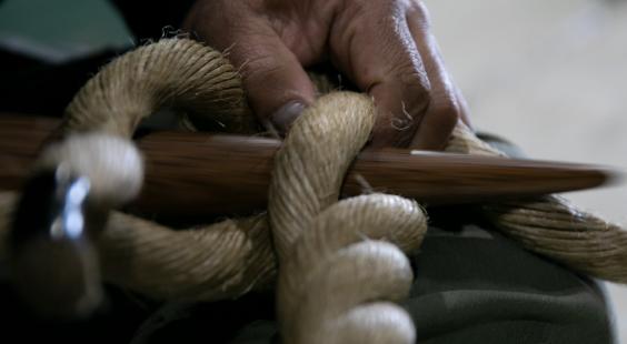 ロープ加工事業 写真