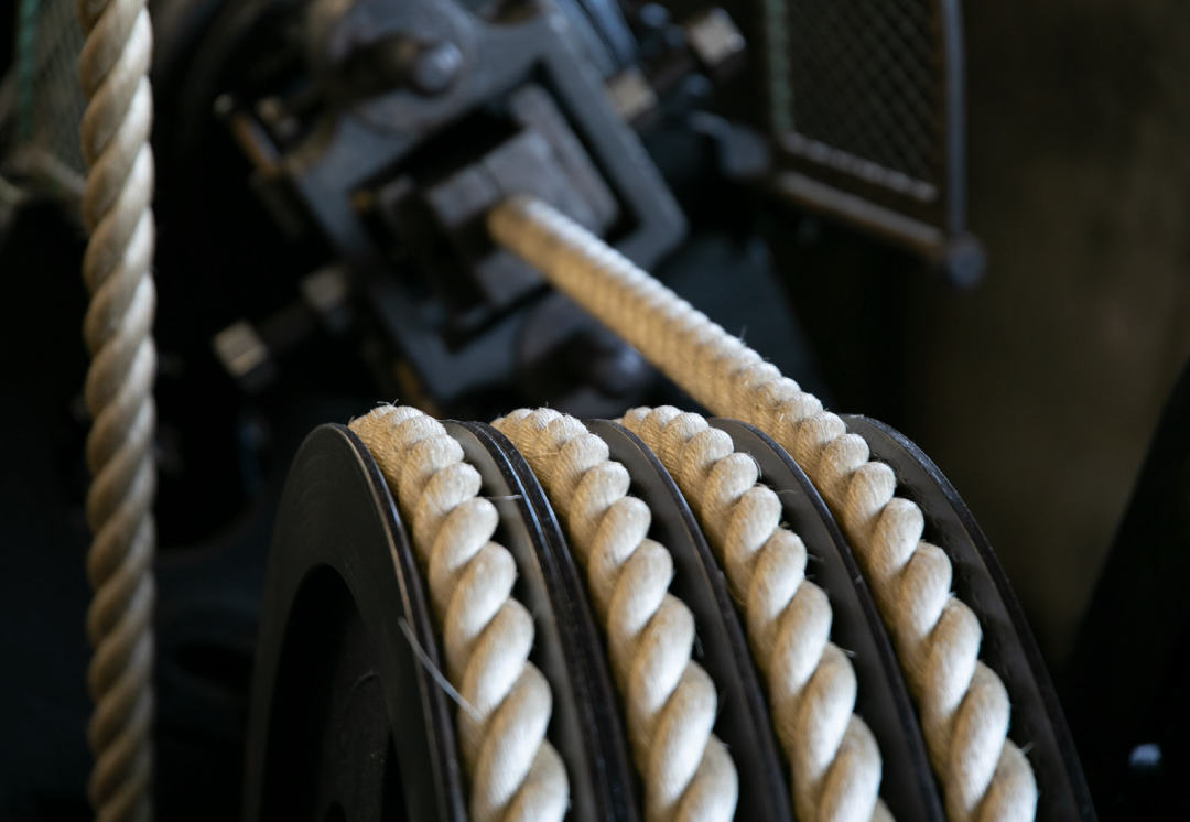 ロープ工程 風景